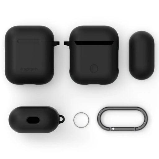 Spigen Apple Airpods Protective Silicone Case   Black 066CS24808 5 S6KQOY0QTCL7 1024x1024 512x512 - كفر سماعة ابل ايربودز سيلكون سبايجن