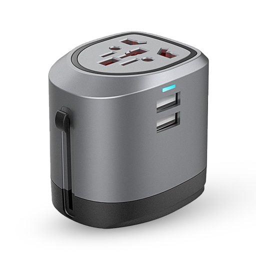 World Travel Adapter 512x512 - ادابتر السفر متعدد الافياش روكيني