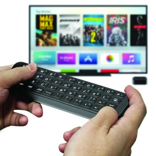 promate sirikeyboard apple tv 512x512 - لوحة مفاتيح متوافق مع ابل تي في اسود بروميت