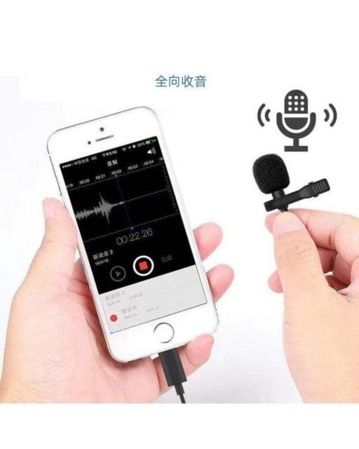 0d4fb92f fc2f 4660 8d7e da23557f7428 512x640 - لافالير ميكروفون لأجهزة ابل - اسود