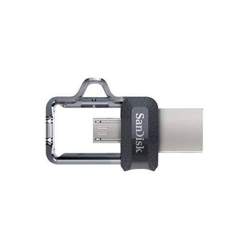 1mm11020020025ast3 6 512x512 - سانديسك ذاكرة فلاش الترا ام 3 بمنفذ مايكرو يو اس بي ويو اس بي 128 جيجا – اسود/فضي